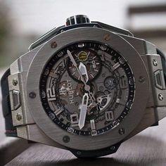 Hublot Big Bang Ferrari Titanium; beautiful watch. Too expensive but awesome.