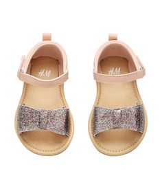 Sandalen mit Glitzerschleife | Puderrosa | Kids | H&M DE