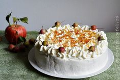 TORT CU MERE SI CREMA DE ZAHAR ARS - Rețete Fel de Fel Romanian Food, Apple Pie, Deserts, Cakes, Sweet Treats, Desserts, Apple Pies, Pastries, Postres