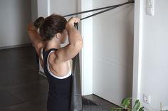 Anfänger Schulter Workout mit dem Theraband facepulls 2 2