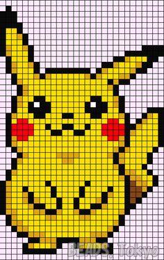 Pikachu - Pokemon perler bead pattern by BEADS.Tokyo