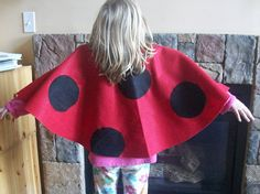 Lady Bug Cape Tutorial