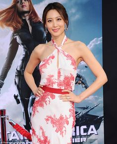 Trailer mystery solved: Claudia Kim, shown in March at the Captain America: The Winter Soldier premiere in Los Angeles,, was identified as they mystery woman shown in the new Avengers: Age Of Ultron trailer