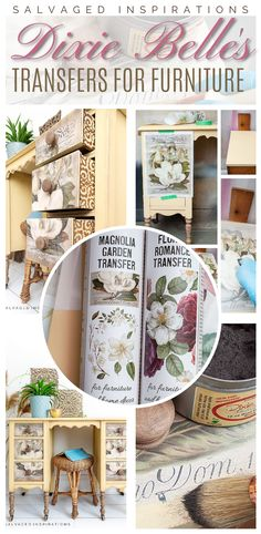 Dixie Belles Transfers For Furniture | The Best Furniture Transfer for Your Pieces | Salvaged Inspirations #siblog #salvagedinspirations #paintedfurniture #furniturepainting #DIYfurniture #furniturepaintingtutorials #howto #furnitureartist #furnitureflip #salvagedfurniture #furnituremakeover #beforeandafterfurnuture #paintedvintagefurniture #roadsiderescues #chalkpaint #chalkpaintedfurniture #diyprojects #diyfurnituremakeover #furniturerestoration #furnitureideas #siblogquicktip Chalk Paint Projects, Chalk Paint Furniture, Diy Furniture Projects, Cool Furniture, Diy Projects, Salvaged Furniture, Furniture Restoration, Vintage Furniture, Desk Makeover