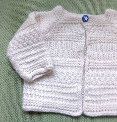 Ravelry: Heirloom Baby Cardigan pattern by String Yarns Knitting For Kids, Easy Knitting, Baby Knitting Patterns, Baby Patterns, Knitted Baby Cardigan, Cardigan Pattern, Hand Knit Blanket, Knitted Blankets, Baby Coat