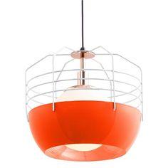 Office Lighting | Modern Orange Pop Pendant Light $370 | Shades of Light