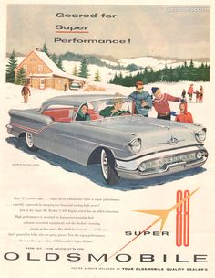 1957 Oldsmobile Super 88 Holiday Coupe - Geared for Super Performance! - Original Ad