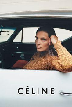 Daria Werbowy's Fresh-Faced Céline Resort 2015 Campaign via @WhoWhatWearUK