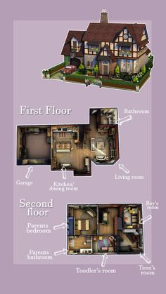 Sims 4 Houses Layout, House Layout Plans, House Layouts, Sims 4 House Plans, Sims 4 House Building, House Floor Plans, Casas The Sims Freeplay, Sims Challenge, Sims 4 House Design
