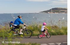 Three new cycling routes connecting Brittany, Normandy, Dorset and the South West of England. This picture is of The Rodwell Trail that connects Weymouth and Portland Cycle Route, Normandy, Brittany, Portland, Holiday Ideas, Roots, Cycling, Trail, England