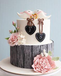 Rustic engagement Cake / cupcake / Cookies by asli…