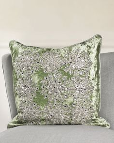 The exceptional beauty and cool tranquility of a winter snowfall is elegantly represented in our Snowflake Velvet Pillow Cover.