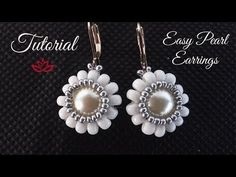 Tutorial for beaded ball of twin (superduo) beads that you could use in earrings, necklaces, bracelets and as a pendant. Coral Earrings, Seed Bead Earrings, Beaded Earrings, Earrings Handmade, Seed Beads, Pearl Necklace, Earring Tutorial, Bracelet Tutorial, Beaded Jewelry Patterns