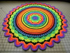 mini rings of crochet crochet rug pattern