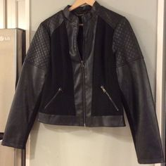 A.n.a. Faux leather jacket BNWOT My Closet Rules: No Holds or Trades Same Day or Next Day Shipping All Items are in Gently Used Condition Unless Stated Otherwise a.n.a Jackets & Coats