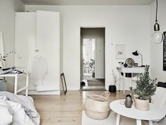 my scandinavian home: A cosy Swedish home in neutrals - with festive touches.