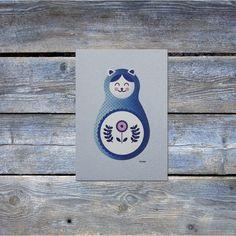 Cat Nesting Doll Art Print by ChrisWarrenArt on Etsy https://www.etsy.com/listing/172433314/cat-nesting-doll-art-print