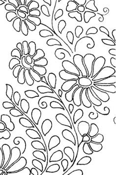 Siren Mexican Floral Yoke Embroidery Pattern    Free pattern download