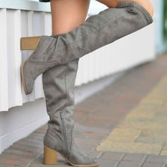 df3ffd78f9 Walk Into Winter Suede Grey Tall Boot Cousin Couture. Flats, Sandals, Grey,