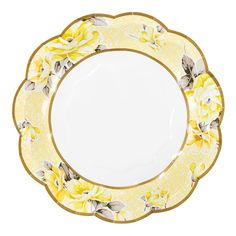 Each pack contains 12 paper plates in 6 different designs Approx. diameter Shop our best selling Truly Scrumptious collection to complete the look! Vintage Plates, Vintage China, Vintage Floral, Tea Party Baby Shower, Shower Baby, Baby Showers, Cornish Cream Tea, Floral Paper Plates, Afternoon Tea Parties