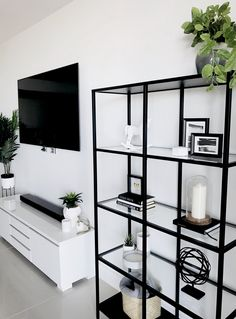 Ikea home decorating interiordesign home cabinet bookshelf scandinavian monochrome lacasade mamiandchic Living Room Storage, Home Living Room, Living Room Designs, Living Room Decor To Buy, Modern Living Room Decor, Black And White Living Room Decor, Black Decor, Modern Decor, Living Room Inspiration