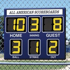 This Is A Great Portable Baseball Scoreboard Or Softball For Youth High School Leagues