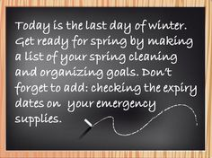 Get ready for spring by making a list of your goals, and don't forget about emergency preparedness.
