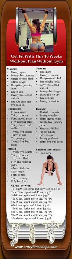 10 Weeks Workout Plan Without Gym for Perfect Body