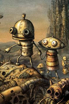Machinarium (2009) Thought #Provoking Hashtags: The #Maj #Android