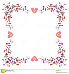 Decorative Frame With Hearts - Download From Over 45 Million High Quality Stock Photos, Images, Vectors. Sign up for FREE today. Image: 29010721
