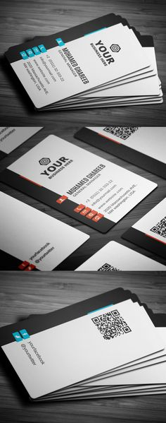 Modern Corporate Business Card #businesscards #printready #psdtemplates