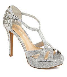 6b99e9410c3 Gianni Bini Geneva Glitter Jeweled Dress Sandals