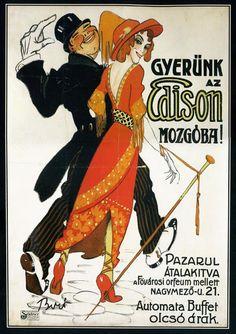 Bíró Mihály: Gyerünk az Edison Mozgóba!, kb. 1912- Google keresés
