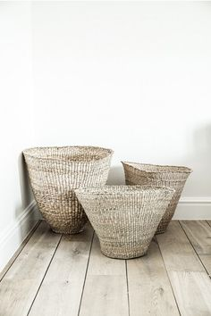 A cute little cluster of baskets. Visit www.hardtofind.com.au to shop similar #storage #gift #tidy