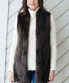 This Donna Salyers' Fabulous-Furs Brown Faux Sable Fur Vest - Plus Too by Donna Salyers' Fabulous-Furs is perfect! #zulilyfinds
