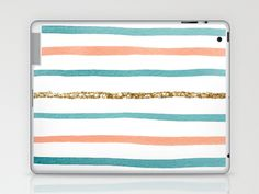 Glitter Stripe Laptop & iPad Skin by Elizabeth Eadie $25