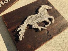 Running Horse String Art by StringsAttachedKY on Etsy