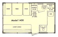 Floorplan/layout - shasta 1400 vintage ad | 1974 Shasta 1400
