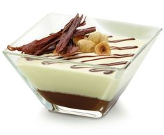 This hazelnut and cream dessert looks amazing! We feel like taking a bit right now. #hazelnut #cream #dessert #amazing