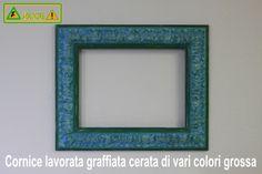 Cornice lavorata grossa graffiata cerata di vari colori