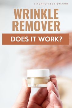 Wrinkle Remover Cream - Does it Work??