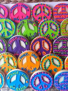 Peace Sign Decorating Ideas Alluring Lava Lounge  Cookie Decorating And Cake Decorating Design