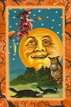 Image detail for -From a vintage Halloween greeting card.