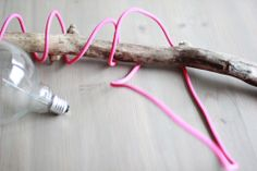 DIY: spray colored cord by fjellby Pink Room, Diy Interior, Cord, Diy Crafts, Candles, Lights, Create, Inspiration, Biblical Inspiration