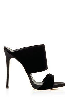 Black Veronica Two Strap Slides by Giuseppe Zanotti Now Available on Moda Operandi- gorgeous