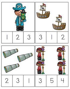 Preschool Printables: Pirate Fun Printable Add-On Preschool Pirate Theme, Pirate Activities, Preschool Activities, Jack Le Pirate, Pirate Day, Preschool Printables, Preschool Math, Kindergarten, Pirate Crafts