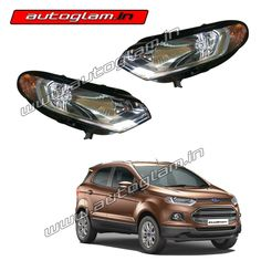 Autoglam provides premium quality Headlight Assembly for all brands and it's models in best price across India. Aftermarket Headlights, Car Headlights, Ford Ecosport, Headlight Assembly, All Brands, The Originals, 1 Year, Bulbs