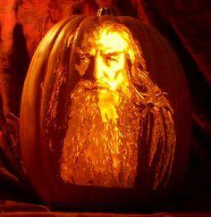 Gandalf carve by The Pumpkin Geek. Pre-Hobbit goodness!!