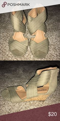 Olive wedge sandal Low heel olive wedge RICKI sandal from Maurices Maurices Shoes Wedges