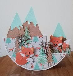 Marianne Design, Woodland Animals, Scrapbooks, Paper Cutting, Birthday Cards, Paper Crafts, Kids Rugs, Stamp, Winter